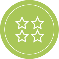 Three Star Rating Icon - Best