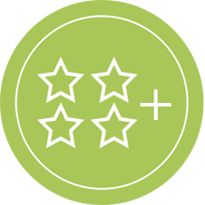 Four Star Rating Icon - Awesome